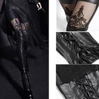 Hot Sexy women's girl's Punk Gothic embossed decorative legging