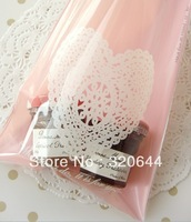 Wholesale 200pcs/lot 13cm*19cm Pink Lace  plastic bread bags ,Snack Food Packaging Bag,bakery bags Free shipping