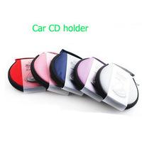 1pcs/lot new arrival Car CD DVD Holder organizers  Folder 20 Disc Disk Storage Bag Sun Visor Clip Case Clipper