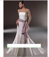 vestido de noiva 2014 122     euro sexy mermaid big bow simple strapless fashionable wedding dress bride bridal gown dresses
