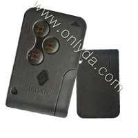 best sale! Megane 3 button Remote key  card 434MHZ 7946 chip  free shipping 10PCS