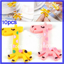 10PCS Plastic Giraffe Earphone Cord Cable Holder Winder Organizer Manager Wrap For Headphone Mp3(China (Mainland))