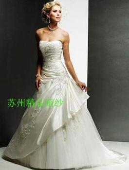 vestido de noiva 2014 123     euro sexy mermaid embroidery draped strapless fashionable wedding dress bride bridal gown dresses