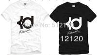 Free shipping 2014 new sale brand t Shirt  basketball K D signature Tee Shirt sports t shirt 100% cotton 6 colors size:S-XXXL