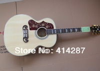 free shipping new sj 200 natural color   standard acoustic guitar  left hand acoustic guitar