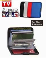 Free Shipping 100pcs 8 colors Aluminum Wallet As Seen On TV Aluma wallet Credit Card Holder