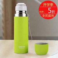 Oneday bullet leak-proof portable outdoor querysystem stainless steel vacuum cup lovers cup lid Large