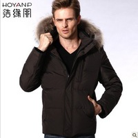 Free shipping, hot sales,  new have  hat and fur men's down jacket, warm clothes   0027