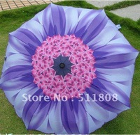Free shipping Retail 1 piece High quality umbrella UV umbrella Sunflower 3 folding Umbrella Purple chrysanthemum pattern