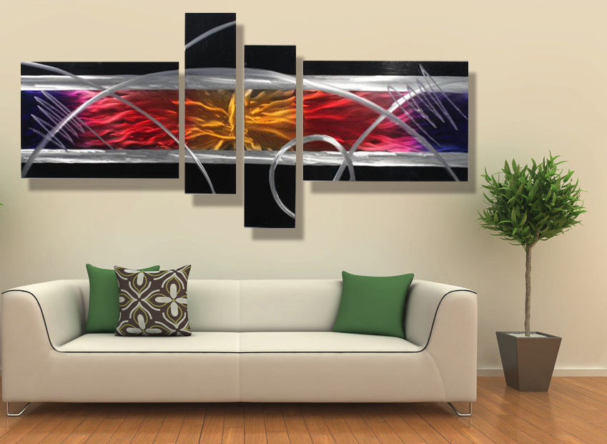Modern contemporary abstract painting metal wall art sculpture wall