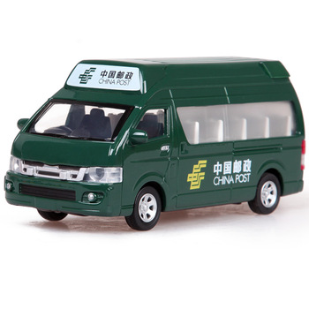 Mail car express delivery car school bus microbiotic acoustooptical alloy WARRIOR car model toy car