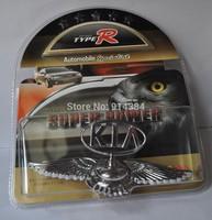 Used  For KIA Eagle Stand Mark Car Chrome Logo Hood Ornaments Badge Emblem (1piece)
