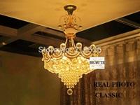 best K9 crystal chandelier lamp light (size:60cm diameter*60cm height )  for home hotel decoration