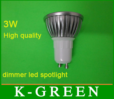 Professional Supplier of dimmer 3w LED Spotlight wholesale E27 GU10 E14 MR16 3W led dimmer spot light good quality(China (Mainland))