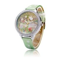 Mini handmade three-dimensional polymer clay cartoon watch double layer glass rhinestone fashion watch ladies watch