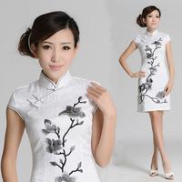 Ink painting cheongsam 2012 fashion summer vintage cheongsam dress women's new arrival