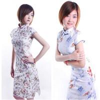 2012 sexy chinese style cheongsam dress stretch cotton women's summer young girl cheongsam