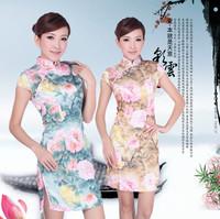 Cheongsam fashion 2012 tang suit cheongsam dress short design cheongsam stretch cotton