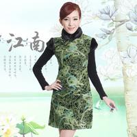 Free Shipping! Winter slim woolen cheongsam fashion winter 2012 chinese style fur collar cheongsam dress formal dress