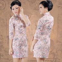 Free Shipping! Cheongsam fashion 2012 long-sleeve vintage tang suit basic cheongsam dress