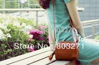 Female Leather Fashion Portable Messenger Bag Carry Bag, Evening Party Bags,Camera Bag,Brown female handbag Woman-Free Shipping