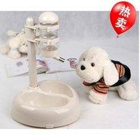 Free shipping Senior pet water dispenser shengjiang water dispenser dog drinking bowl dog bowl double bowl automatic water