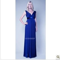 2013 newest maternity V-neck sleeveless full length dress, evening party vest dress for pregnatn women  M-XL free shipping