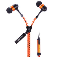 Free Shipping New KT-11B-Zip-orange Headset In-Ear Earphone Headphone For HTC/Samsung/iPHONE  With Microphone