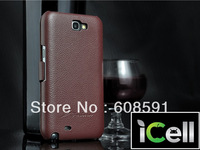 High Quality Cow Leather Lichee Pattern Shaping Sleeve Leather Case For Samsung Galaxy Note 2 II N7100 ,50PCS DHL freeshipping