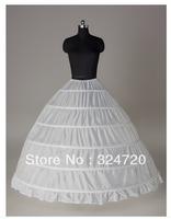 6 wire wedding dress crinoline quinceanera dress slip ultralarge petticoat underskirt