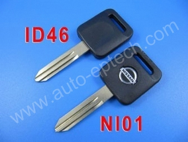 30pcs Brand New uncut blade NI01 Nissan transponder keys ID 46 transponder chips,car transponder chips key for nissan,blank keys(China (Mainland))
