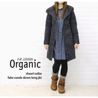 2012 women's suede fabric thickening thermal turtleneck slim medium-long down coat