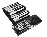 Free shipping  61 keys charger & battery roll piano, flexible piano,children play piano