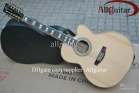 12 strings singlecut Acoustic natural AAA top Solid spruce with fishman pickups