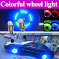 Fireflys wheel lights Bicycle Flashlight LED Bicycle Motor Bike Car Tyre Tire Valve Wheel Cap Lights free shipping dropping(China (Mainland))
