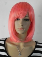 Fashion Anime Magical girl short pink wig cosplay and party with free wig cap