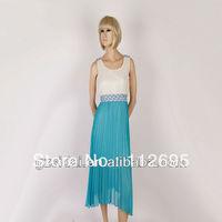 2013 Long length pleated beautiful chiffon dresses