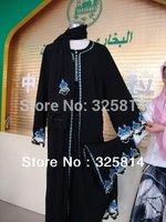 Wholesale/retail New women's muslim clothing abaya/jilbab high quanlity embroidery arab clothes Free shipping