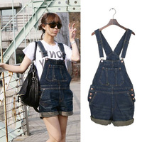 Женские джинсы Unique double chain denim shorts culottes black and white denim jeans water wash all match shorts