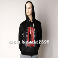 2013 Wholesale Single black solid color cotton cheap plain hoodies