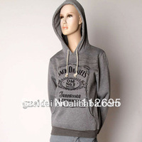 2013 Wholesale Single grey solid color cotton custom hoodies