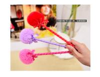 Hotsale! New plush ball pen/Ball pen/ Fashion pen with different colors wholesale 100pcs/lot Free Shipping