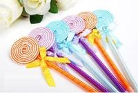 Hotsale! New Apple pen/Ball pen/ Fashion lollipop  pen wholesale 100pcs/lot Free Shipping
