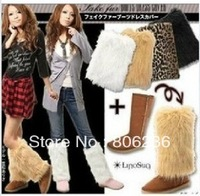 Women Winter Fur Leg Warmers Boots Warmer A2456