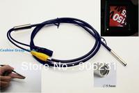 Free shipping!!Taiwan HD 720X625 pixels 12v AV 5.5mm handle Fiber scope/Endoscope Borescope Snake Scope Camera 4 LEDs