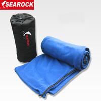 Outdoor fleece sleeping bag ultra-light envelope sleeping bag polar fleece fabric sleeping bag liner