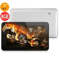 CUBE U25GT 8GB DDR3 1GB 7inch Capacitive Android 4.1 Camera HDMI Tablet PC - White