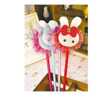Hotsale! New lace rabbit pen/Ball pen/ Fashion promotional pen with different colors wholesale 100pcs/lot Free shipping
