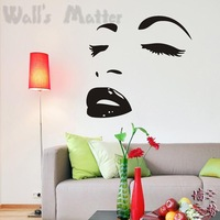 Removable Vinyl Paper art Decal decor Multiple color choices Marilyn monroe fashion sexy decoration wall stickers b0008