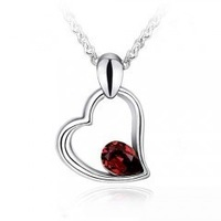 New Arrival Fashion Design Necklace Romantic Jewelry 18K White Gold Plated Pendant Necklace For Women jewelry pendant K079